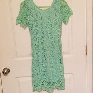 Ezra Mint Green Lace Dress